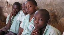 Adolescent boys in talk therapy group near Kampala, Uganda. Credit: StrongMinds
