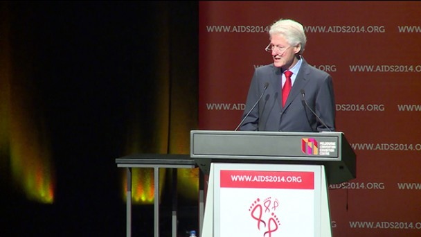 Former President Bill Clinton addresses AIDS 2014