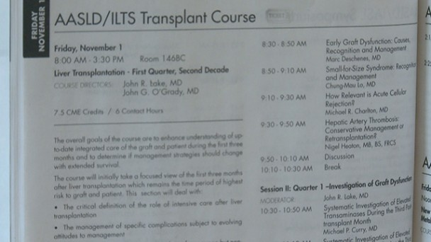 Transplant Course Highlights
